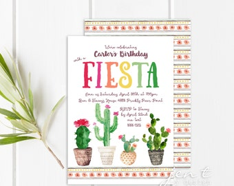 Fiesta Invitation | Fiesta Party | Fiesta Birthday | Mexican Fiesta | First Birthday | Taco Party | Cinco de Mayo | Birthday Invitations