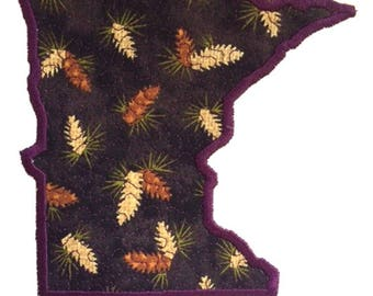Minnesota Applique Embroidery Design File - multiple formats - 5 sizes - instant download - stitch out instructions