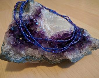 Blue and purple wrap bracelet-infinity bracelet-multi-beaded bracelet-bestfriend bracelet