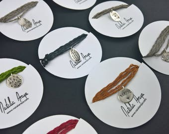 Tiny Charms / Sterling Silver Stamped with textures or the words of your choice / Personalized Jewelry / Custom jewelry / Words