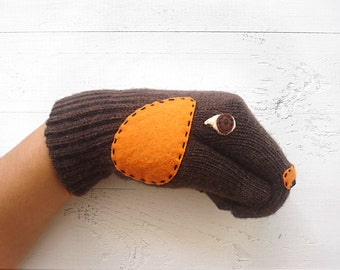 Dog Gloves, Pet Gift, Dog Lover Gift, Animal Gift, Mother's Day Gift, Mom Gift, Animal Gloves, Wildlife Gift, Sales Event, Pet Lover Gift