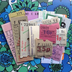 25 Assorted Tickets - Mixed Media - Altered Art - Assemblage - Cards - Scrapbooking - Smash Book - Junk Journal - Collage
