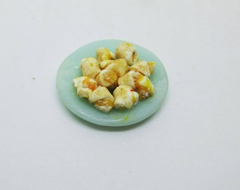 Miniature Plate of Rugelach With Apricot Filling