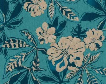 Fabric by the yard - Fat Quarter Bundle - Fabric Bundle - Quilt Fabric - Teal Floral Fabric - Shimmer On - AJSP-17024-59 Ocean