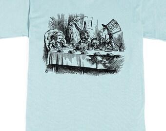Men's T-shirt - Alice in Wonderland Tea Party - Mad Hatter Tshirt - Graphic tee