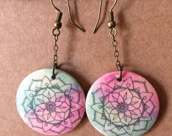 4 mandala earrings