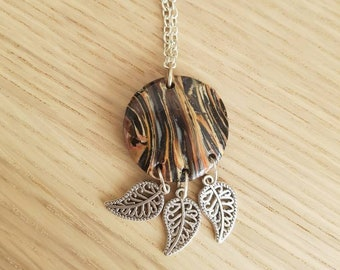 "Marble necklace ""Autumn"""