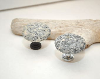 Beach and River Rock Cabinet Knobs Pulls - Pair