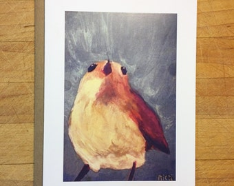 Blue bird note card