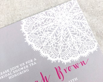 Lace Medallion Invitations