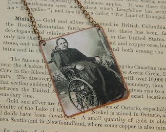 Artist necklace Margarete Steiff  mixed media jewelry Womens History