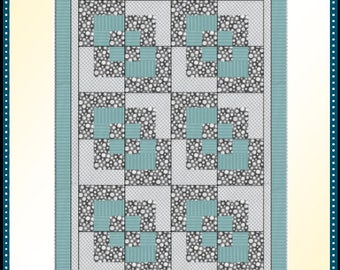 Downloadable Corner Play Quilt Pattern Easy 3 Yard design