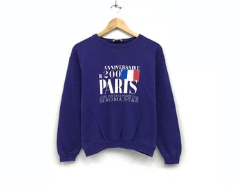Renoma femme Sweatshirt crewneck big print spell out logo streetwear pullover / small size / fashion style /
