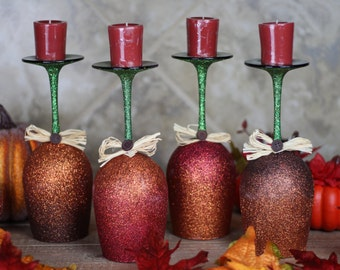 Fall Ombre Candle Holder