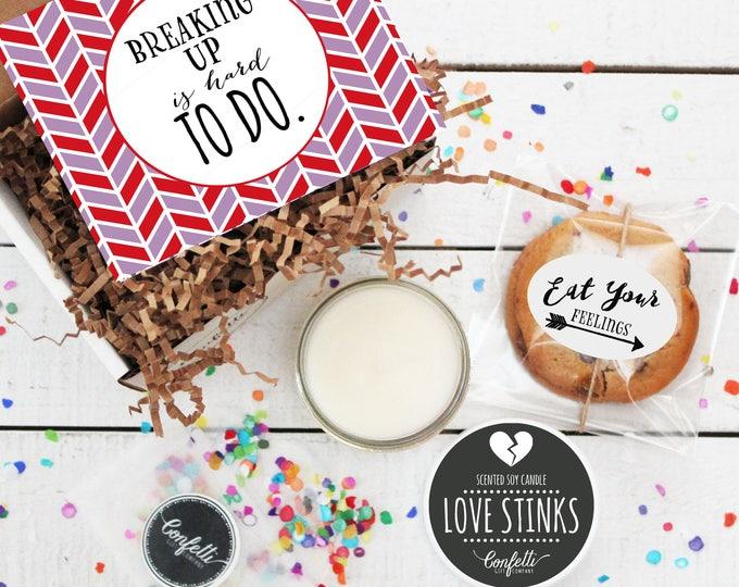 Mini Break Up Gift Box -  Break Up Gift | Love Stinks Candle | Best Friend Gift | Divorce Gift | Break Up Kit