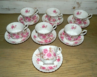 Royal Albert Footed Demitasse Teacups and Saucers - Sold Separately -  Made In England