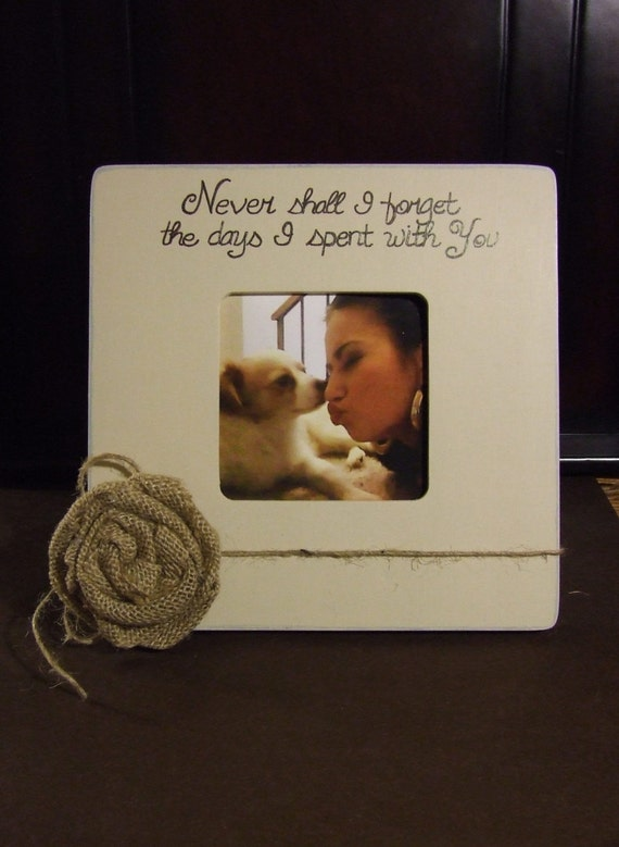 Personalized Pet Memorial with name plate In memory of frame Picture ...