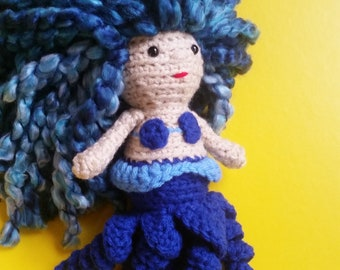 Custom Crochet Sea Witch, Octopus People Doll, Boy Doll Crochet Plush Toy, Birthday Gift for Kids, Sea Witch Amigurumi Doll, Cecaelia Doll