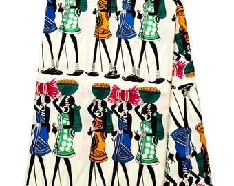 African Ankara Fabric Wholesale/African Dress/ Tess World Designs/Ankara Clothing/ Cream ankara fabric/ Ankara print/ African Fabric/ TP89