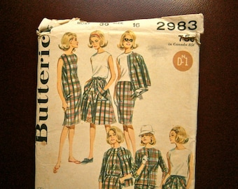 Mod 60's Butterick pattern sz 16