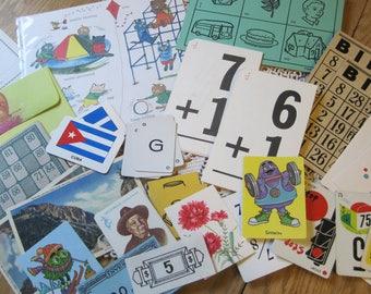 Bundle TWO of 30 Plus Vintage Game Cards for Repurposing