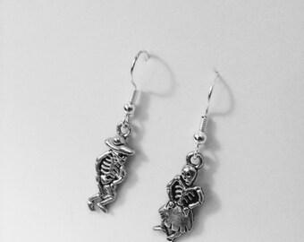 Day of the Dead Silver Earrings