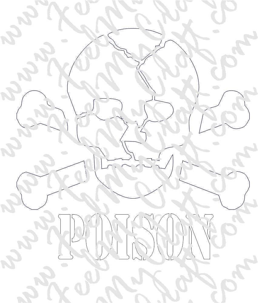 Poison Skull Dxf Format Laser Cnc Router Water Jet