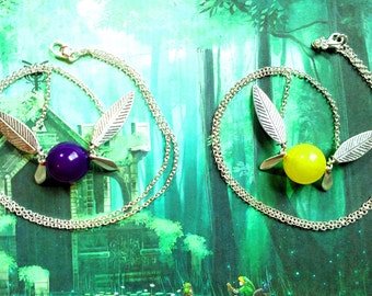 Majora's Mask Tatl and Tael-inspired friendship necklace combo