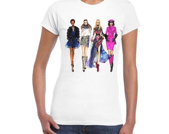 Womens Fashion New T-Shirt, With DTG High Quality Print For Women and Girls.. So Stylish..!