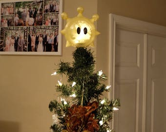 Super Mario Sunshine Shine Sprite Star Christmas Tree Topper