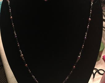 HOME MADE Purple x2 strand Necklace