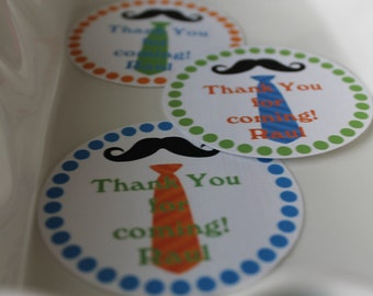 Ties and Mustache gift tags