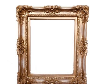 20x24 Distressed Shabby Chic Frames, Baroque Frame, Frame for Canvas, Frame for Painting, Large Picture Frame, Ornate Frame, Wedding Frame,