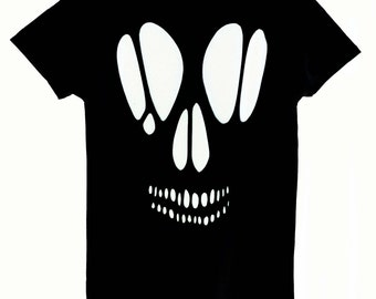 Off the Shoulder Skull Cutout Top / Pastel Goth Skull Shirt