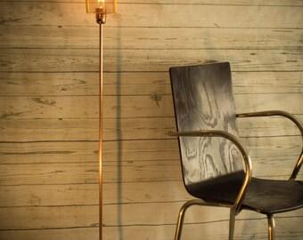 Industrial concrete copper floor lamp, Standing lamp, edison floor lamp, Floor light, Copper pipe, Modern floor lamp, Office decor