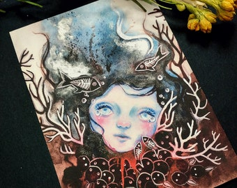 Last Breath - Hand Embellished Print