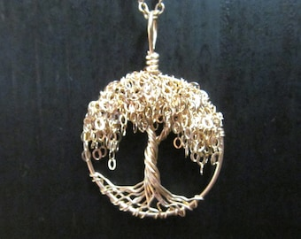 Willow Tree of Life Necklace - 14 kt Gold filled Miniature Tree Necklace