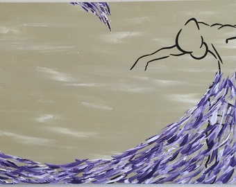 Variations on Flight. Original artwork, Abstract Art, Acrylic on Canvas.