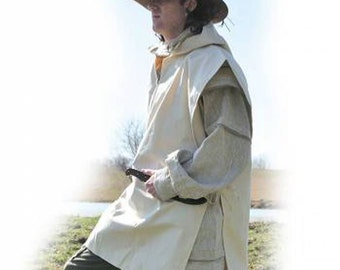 Rain Poncho 10 OZ Duck Canvas Hunting Black Powder, Longhunter Reenactment