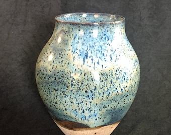 Large Blue Speckled Vase