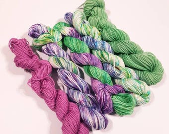 Made to order hand dyed yarn: Lavender