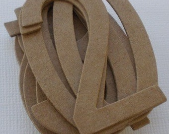 """2 1/4""""  SiMPLE NUMBERS  Raw Bare Natural Chipboard Die Cuts"""