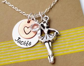 Ballerina Necklace, Dancer Necklace, Ballet Gift, Dance Team Necklace , Dance Recital, Gift for Ballerina