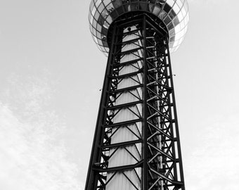 Sunsphere in Black and White - Downtown Knoxville Photo