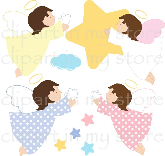 angel clipart instant download angeles celestes angeles rosados rh etsystudio com baby angel clipart black and white baby angel clipart images