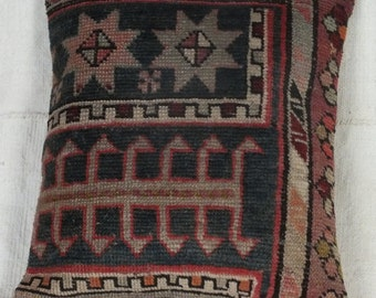 Turkish Carpet Pillow, 14x16 Pillow Case