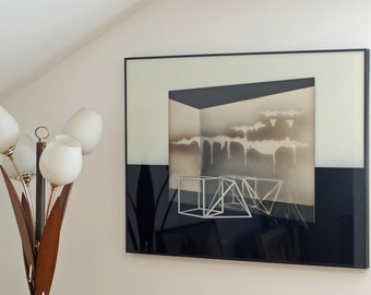 Black & White 3D Abstract painting, Montreal Canada Ren Wil