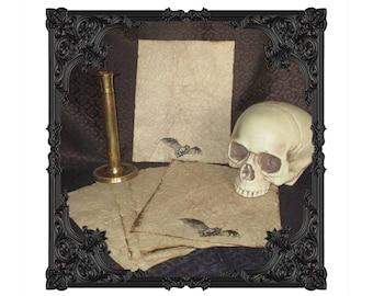 Vampire Bat Paper - Ruggedly Antiqued - 10 Sheets