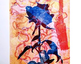 Rose #1 - One of a Kind  Monotype