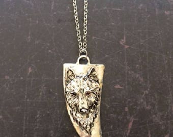 Wolf Necklace - Wolf Pendant - Wolf Jewelry Gold - Wolf Pendant Necklace - Wolf Pendant Gold - Wolf Necklace Silver - Wolf Head Pendant
